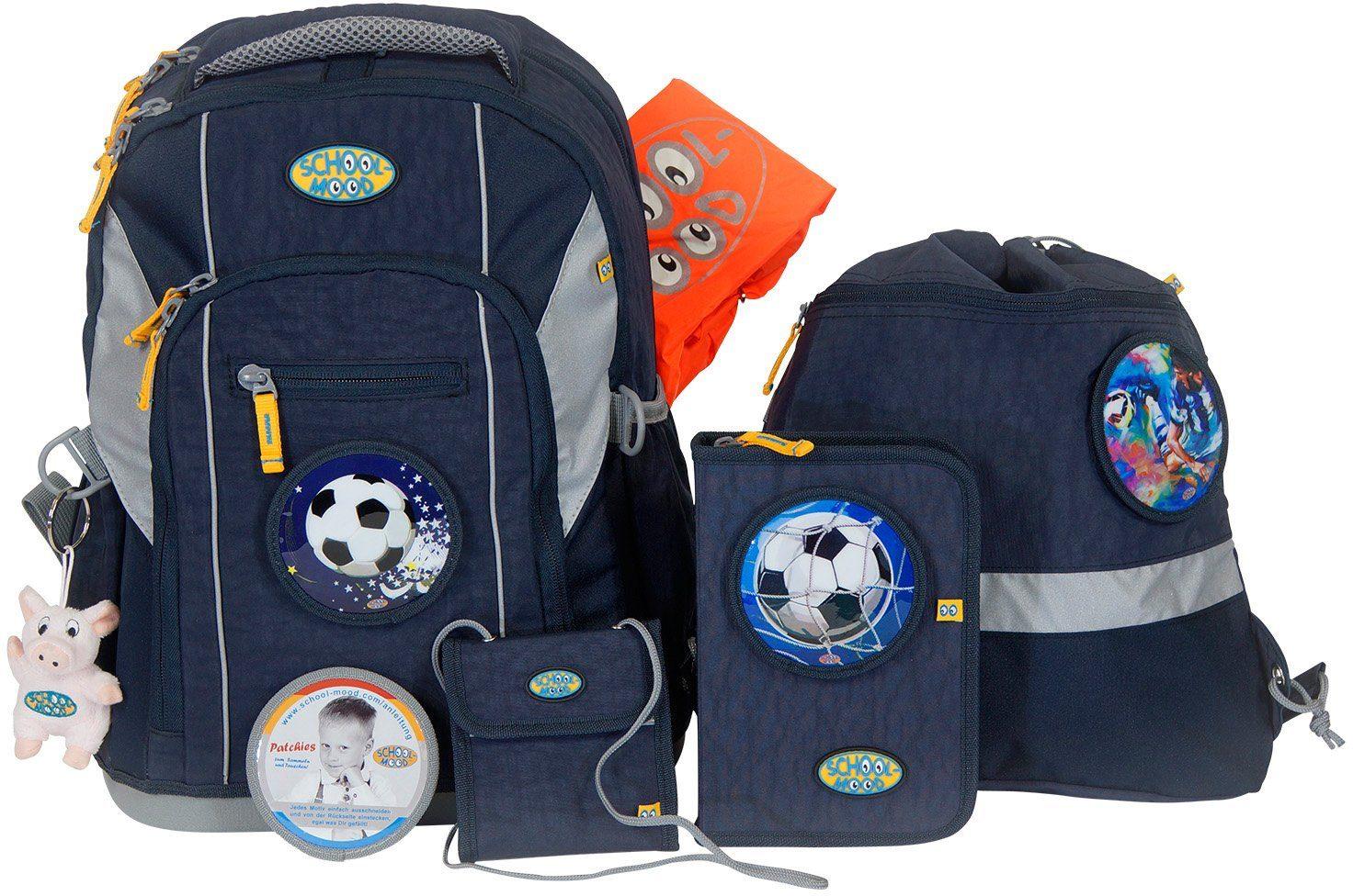 School-Mood Schulranzen Set, 7-tlg., »Loop Fußball«