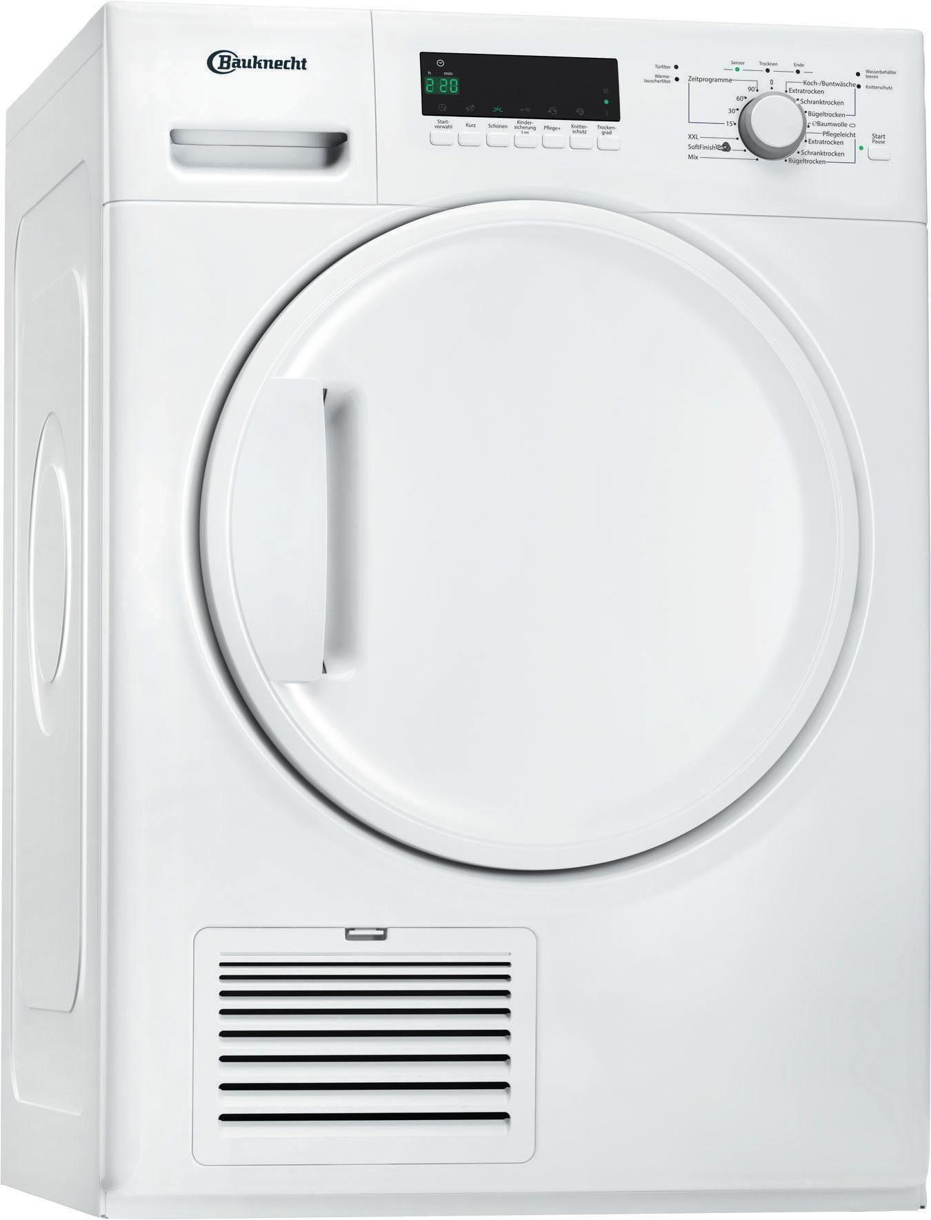 BAUKNECHT Kondenstrockner TK Plus 8BBW, 8 kg