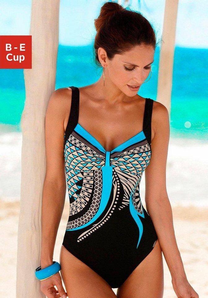 Sunflair Badeanzug in türkis bedruckt