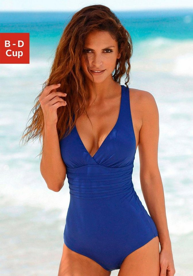 LASCANA Badeanzug in blau