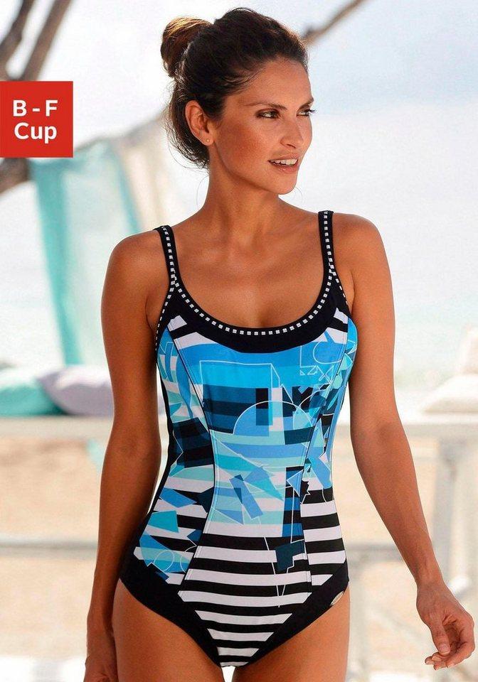 Sunflair Badeanzug in blau bedruckt