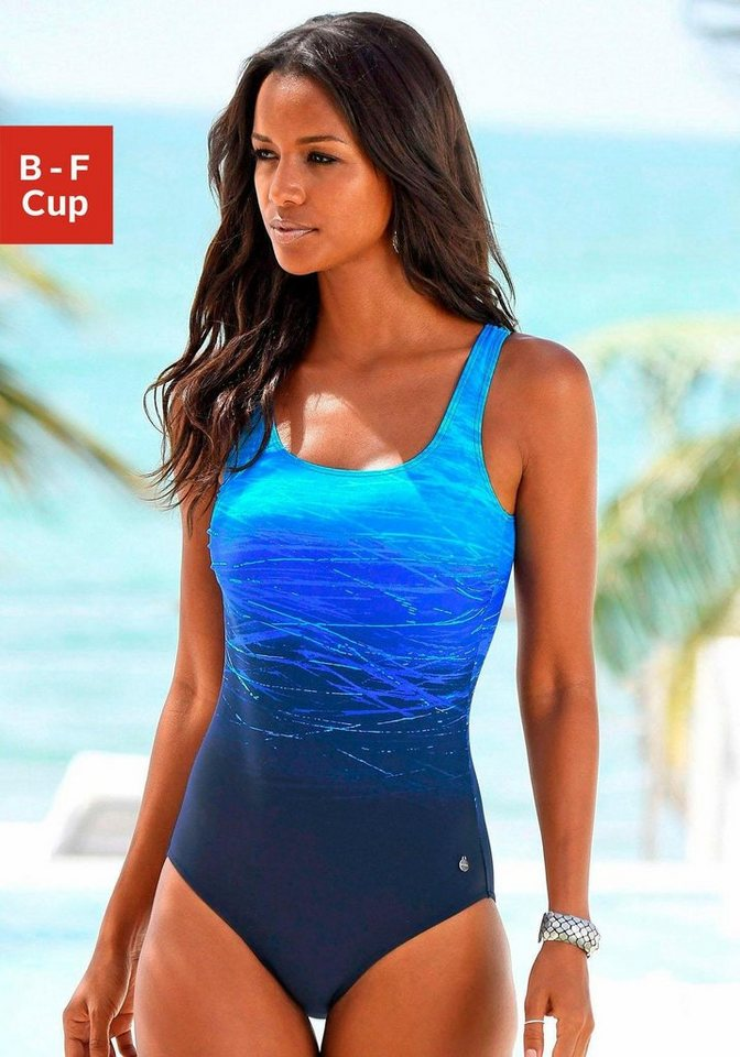 35201e162cc6c LASCANA Badeanzug, mit Batikprint online kaufen | OTTO