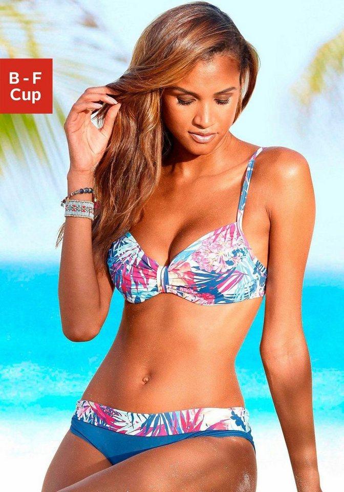 LASCANA Bügel-Bikini in blau-pink bedruckt