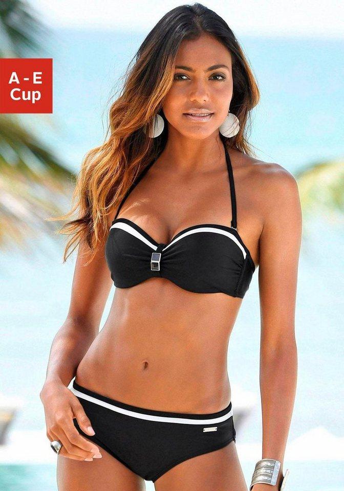 LASCANA Bügel-Bandeau-Bikini in schwarz