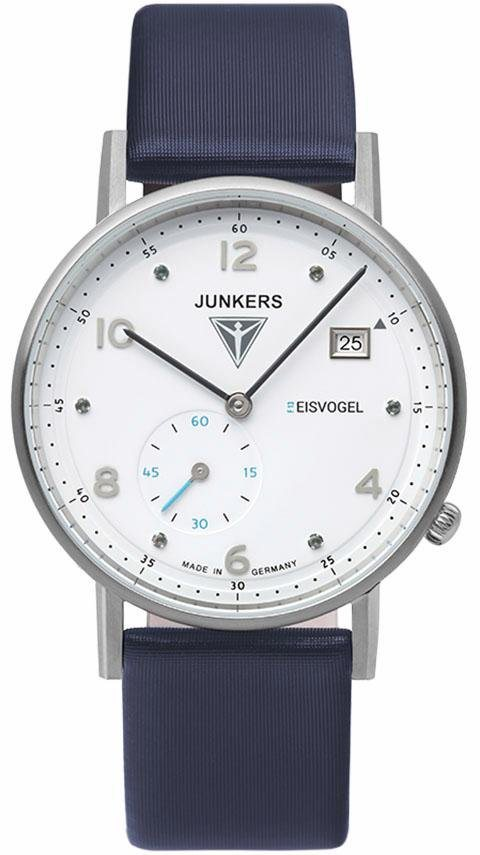 Junkers-Uhren Quarzuhr »Eisvogel F13, 6731-3« Made in Germany in blau