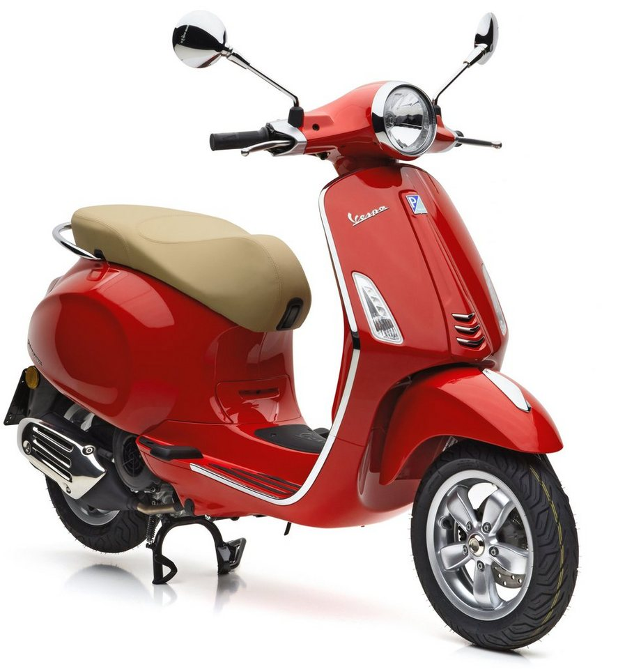 vespa motoroller 125 ccm 10 7 ps 91 km h rot. Black Bedroom Furniture Sets. Home Design Ideas