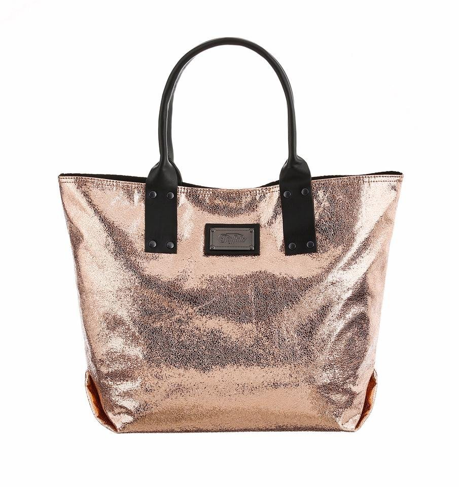 Buffalo Shopper in Metallic Optik in bronzefarben