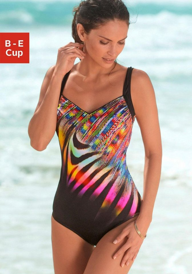Sunflair Badeanzug in schwarz-bunt