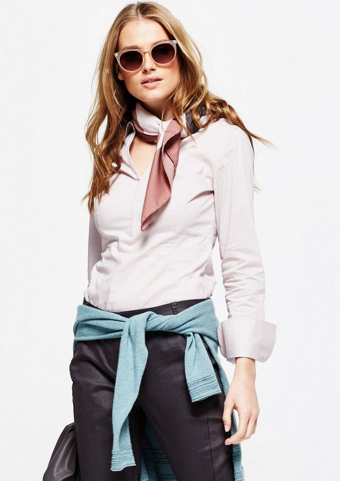 COMMA Edle Businessbluse mit schönen Details in rose quarz
