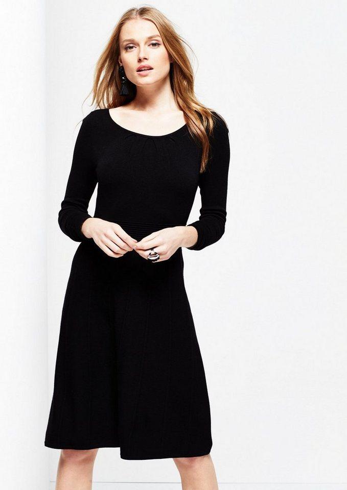 COMMA Weiches Strickkleid mit langen Ärmeln in black