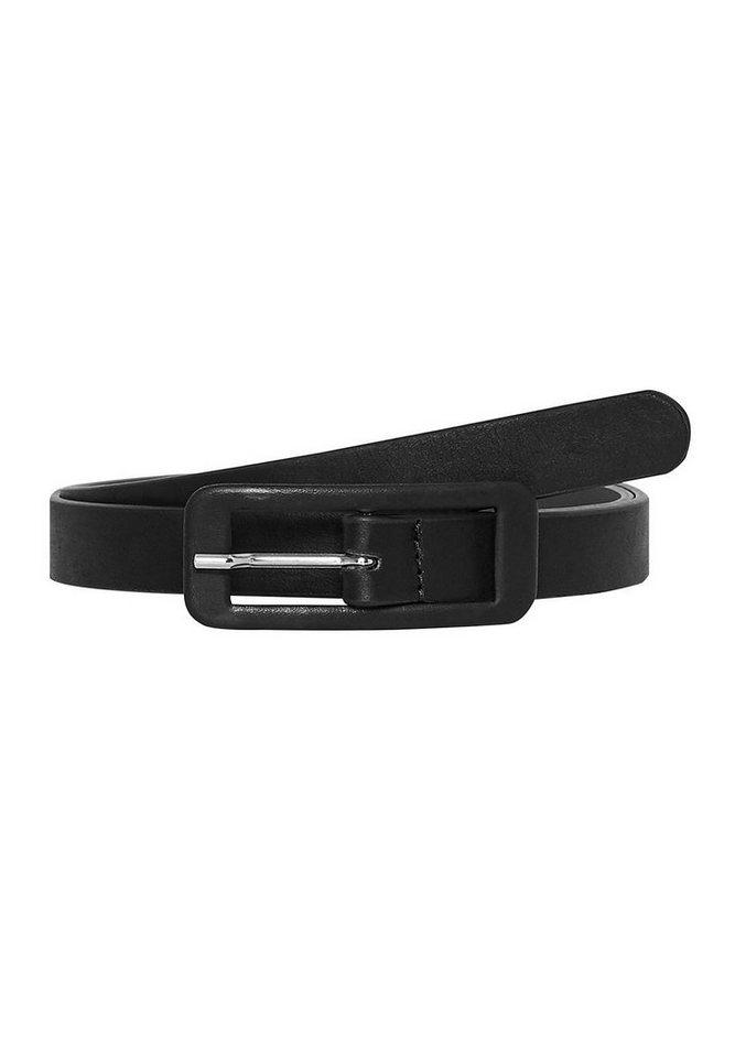 HALLHUBER Gürtel mit lederüberzogener Schließe in schwarz