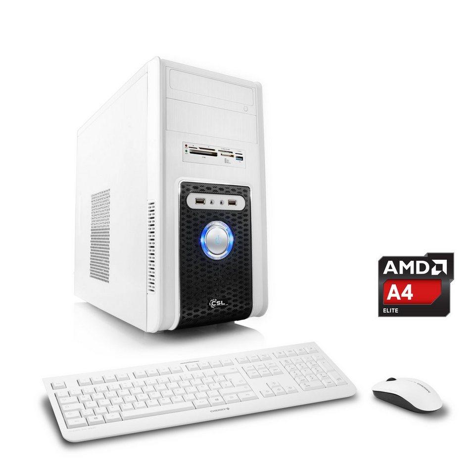 CSL Office PC | AMD A4-5300 | Radeon HD 7480D | 8 GB RAM »Sprint T2824 Windows 10 Home« in weiß