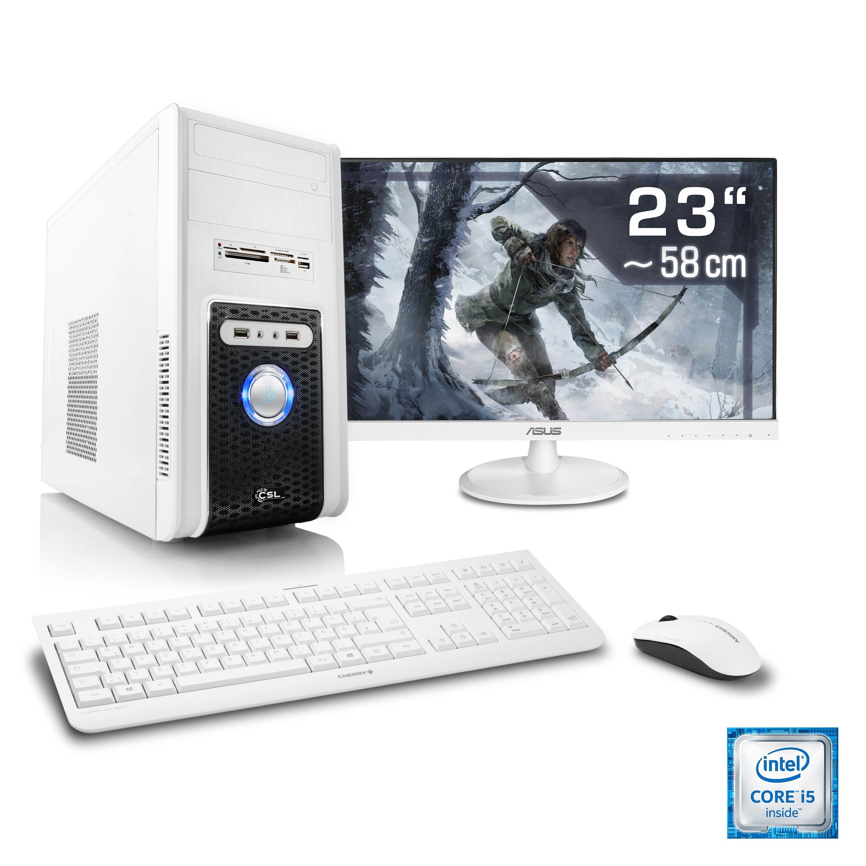 "CSL Gaming PC Set | Core i5-6500 | GTX 1050 Ti | 8 GB RAM | 23"" TFT »Speed T5925 Windows 10 Home«"