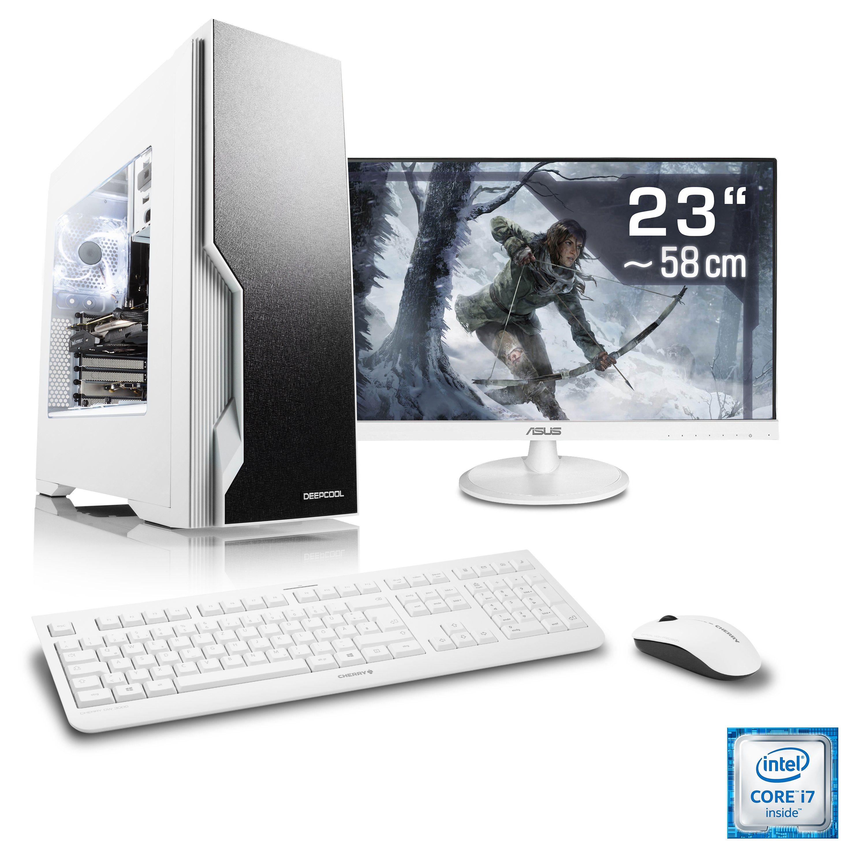"CSL Gaming PC Set | Core i7-6700 | GTX 1050 Ti | 16 GB RAM | 23"" TFT »Speed T7793 Windows 10 Home«"