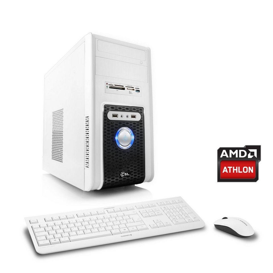 CSL Multimedia PC | Athlon X4 860K | Radeon R7 240 | 8 GB RAM »Sprint T4828 Windows 10 Home« in weiß