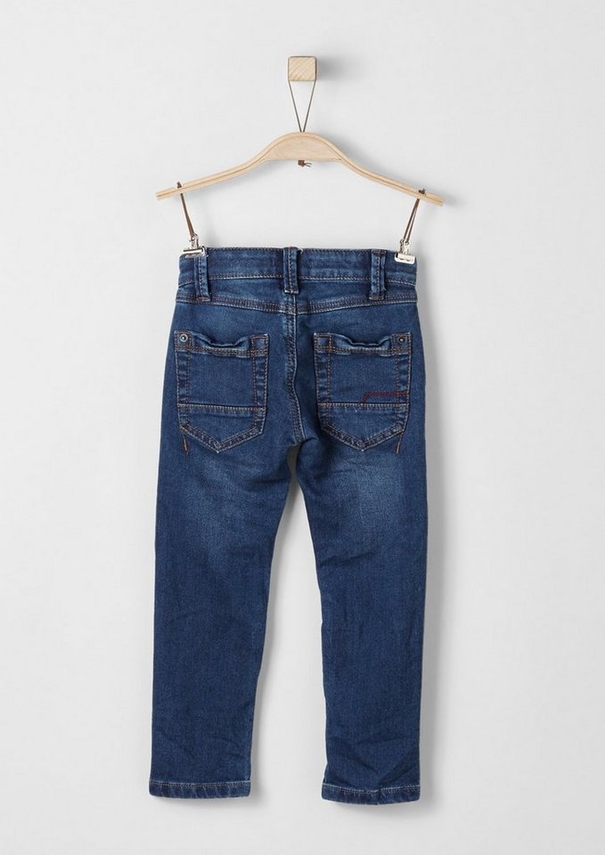 s.Oliver RED LABEL Junior Brad: Jeans im Biker-Look für Jungen in blue denim stretch