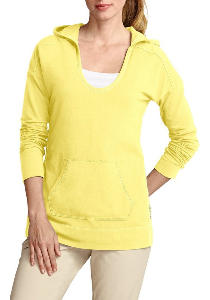 Eddie Bauer Sweatshirt mit Kapuze in Gelb