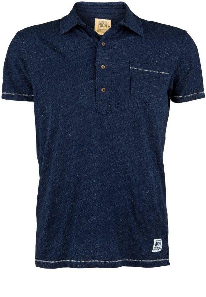 Better Rich Poloshirt »POCKET M« in parisian blue