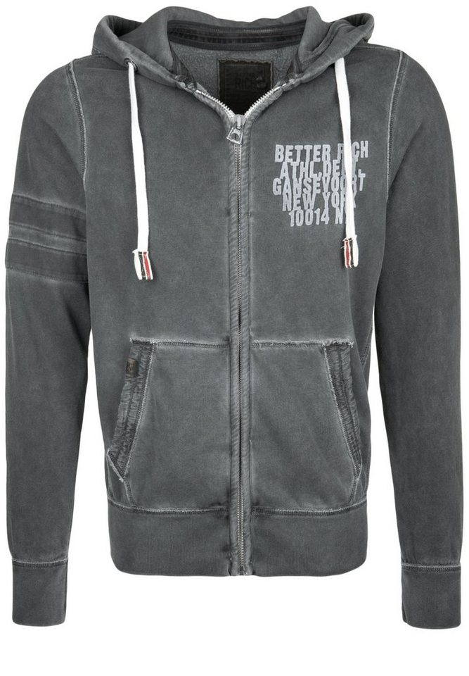 Better Rich Kapuzensweatjacke »HOOVER ATHL. DEPT.« in new black