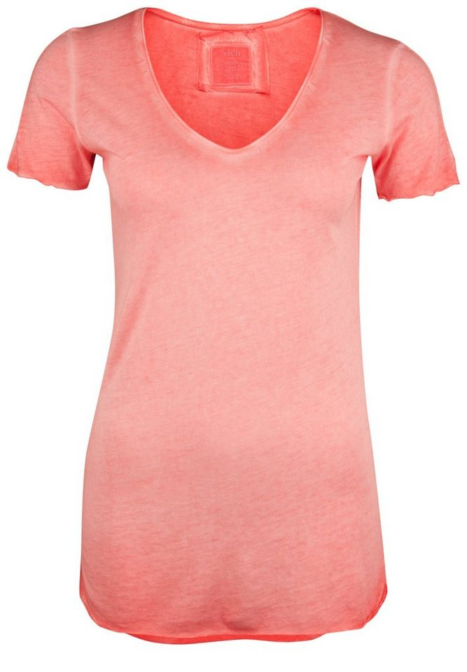 Better Rich T-Shirt »V-NECK PAILLETTE« in salmon