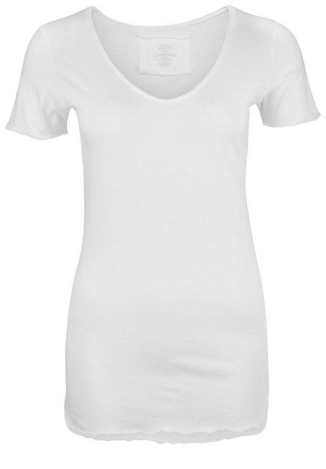 Better Rich T-Shirt »V-NECK PAILLETTE« in white