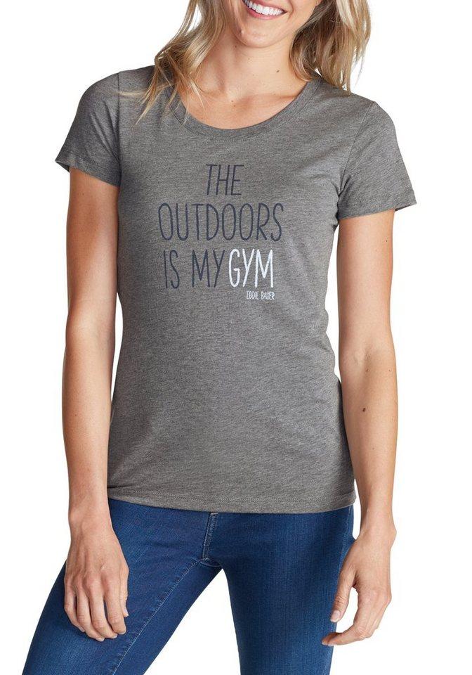 Eddie Bauer Graphik T-Shirt in Grau meliert