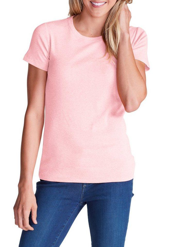 Eddie Bauer T-Shirt mit Rundhalsausschnitt in Rosa meliert