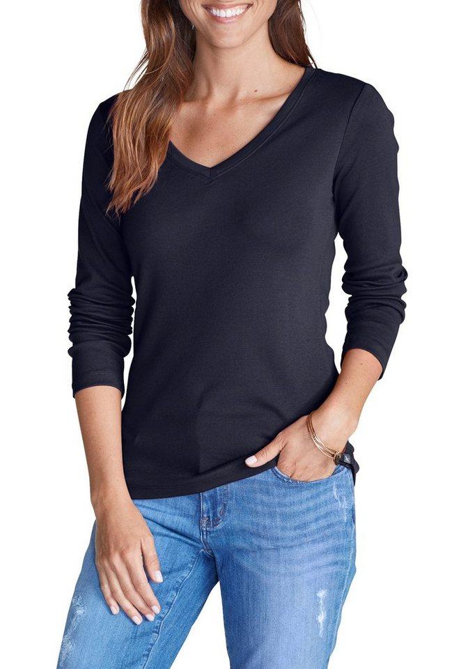 eddie bauer langarmshirt mit v ausschnitt kaufen otto. Black Bedroom Furniture Sets. Home Design Ideas