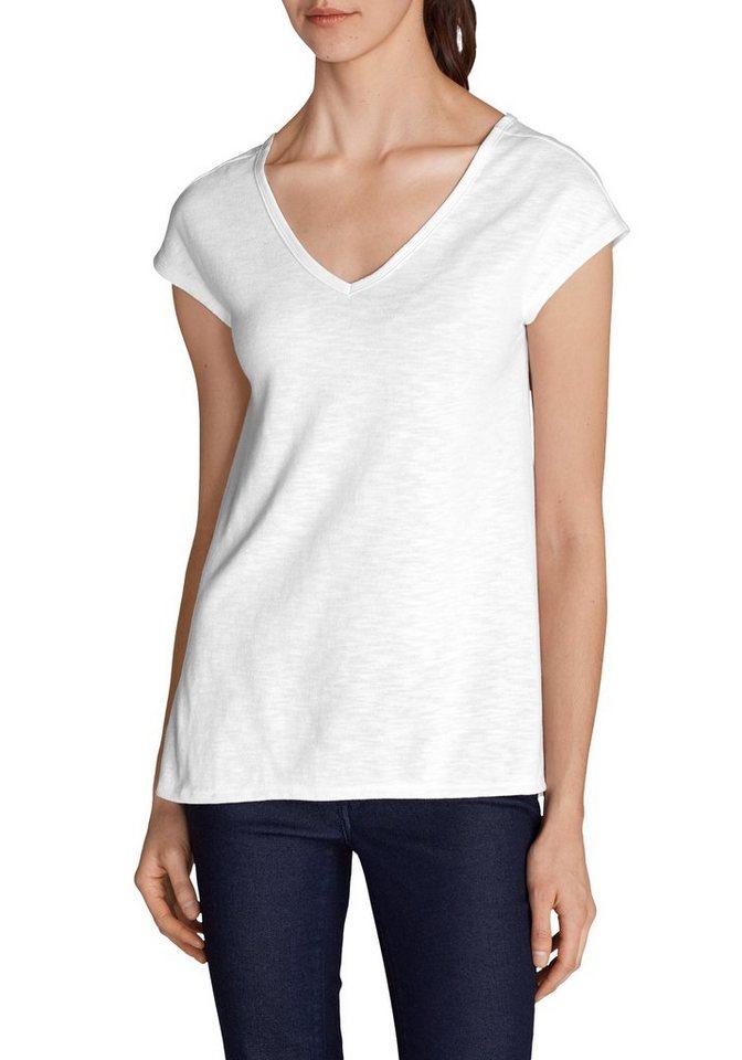 Eddie Bauer Shirt im Materialmix in Weiß