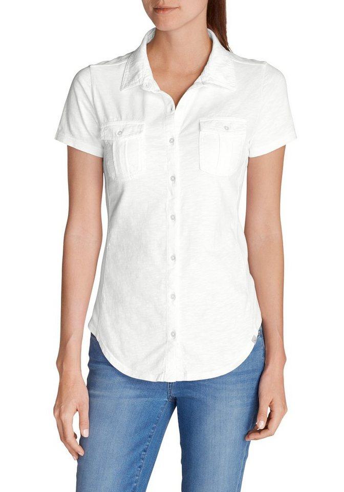 Eddie Bauer Poloshirt mit Knopfleiste in Weiß
