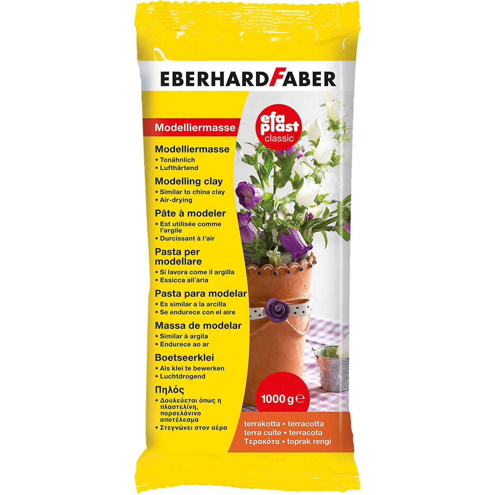 Eberhard Faber EFA Modelliermasse Plast Classic, 1 kg terrakotta