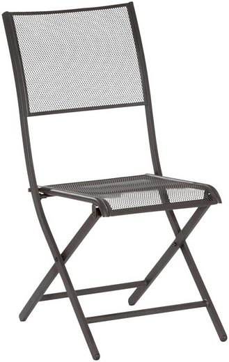MERXX Gartenstuhl »Samos« (Set, 2 Stück), 2er Set, stapelbar, Oval-Stahlrohr-Gestell 30x15 mm, schwarz