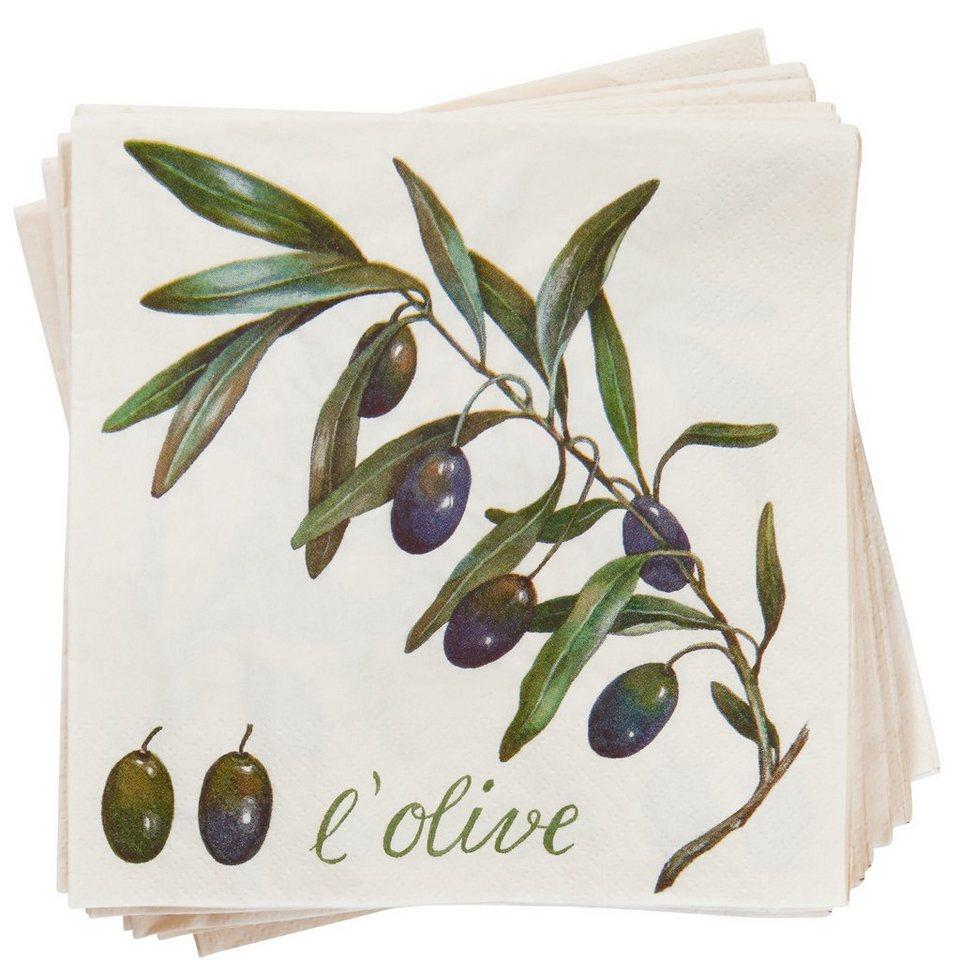 BUTLERS APRÈS »Serviette L`Olive« in Grün
