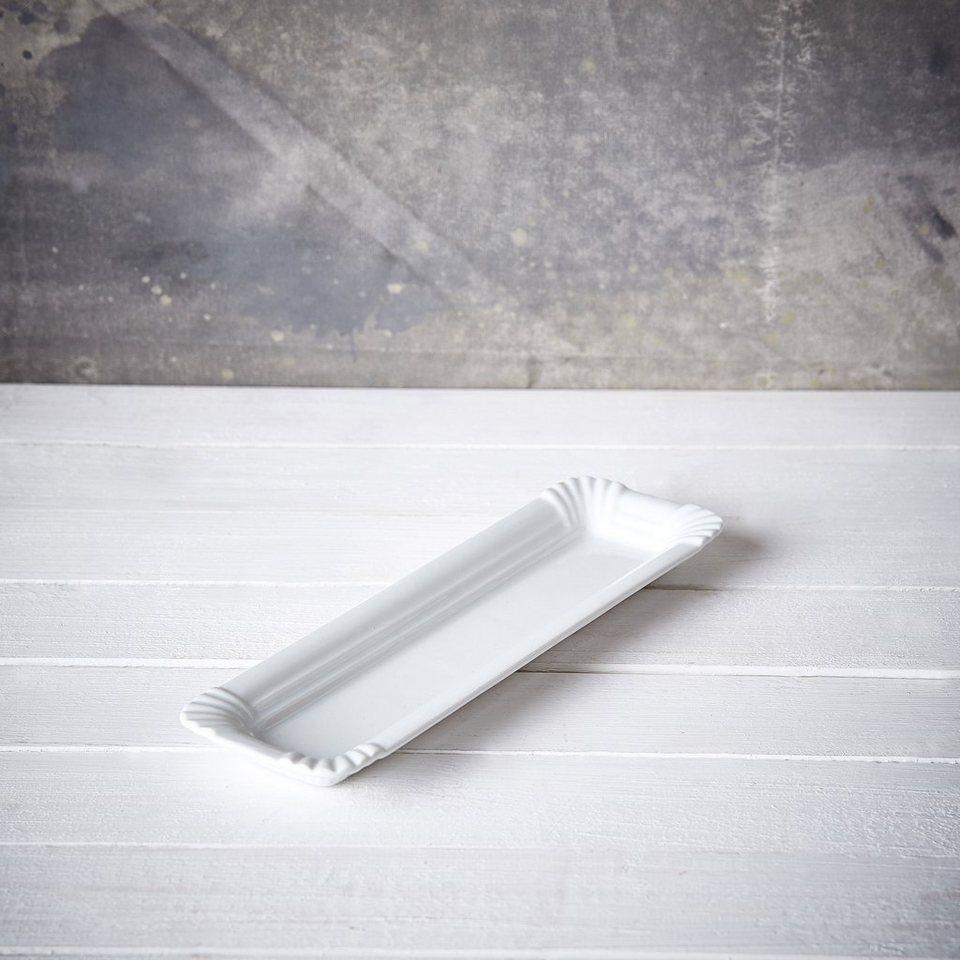 BUTLERS PURO »Wurstteller 'Pappoptik'« in Weiß