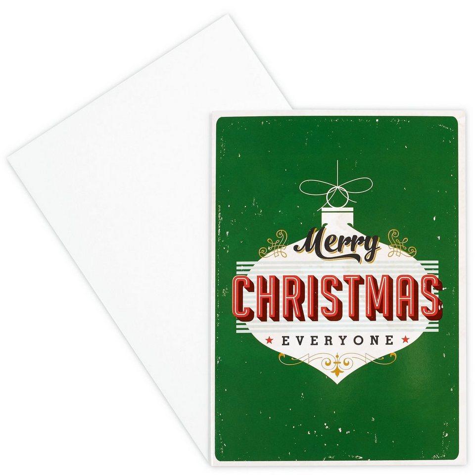 BUTLERS CARD »Merry Christmas« in Grün