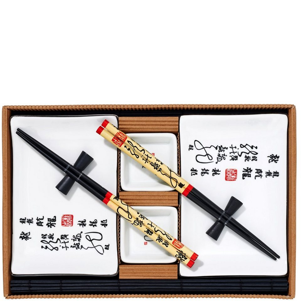 BUTLERS DRAGON »Sushi-Set 10-tlg.« in weiss