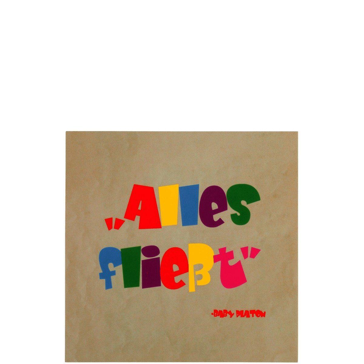 BUTLERS CARD »Postkarte bunt/Alles fließt«