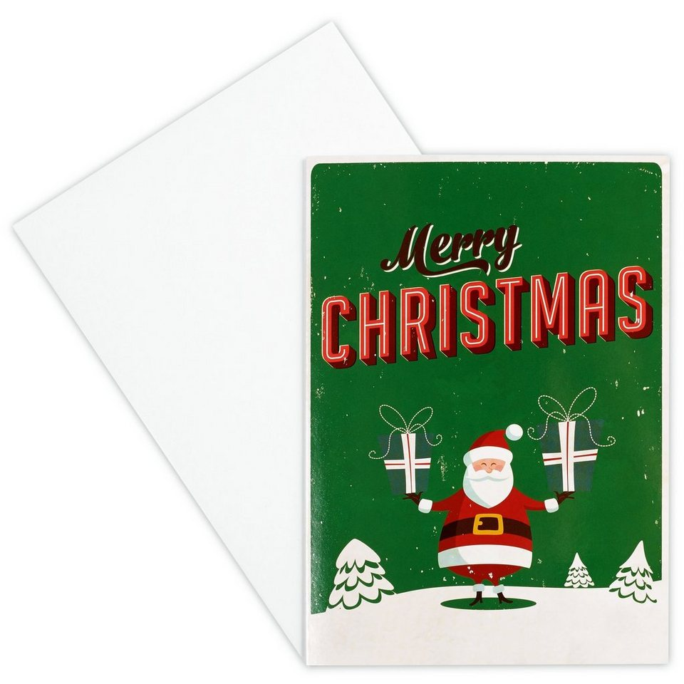 BUTLERS CARD »Santa/Merry Christmas« in Bunt