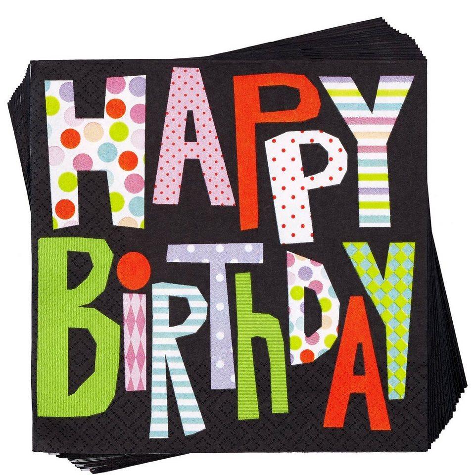 BUTLERS APRÈS »Papierserviette Happy Birthday«