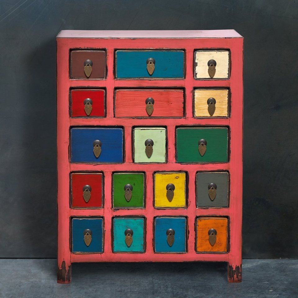 BUTLERS PASTEL LOVE »Kommode mit 17 Schubladen« in pink