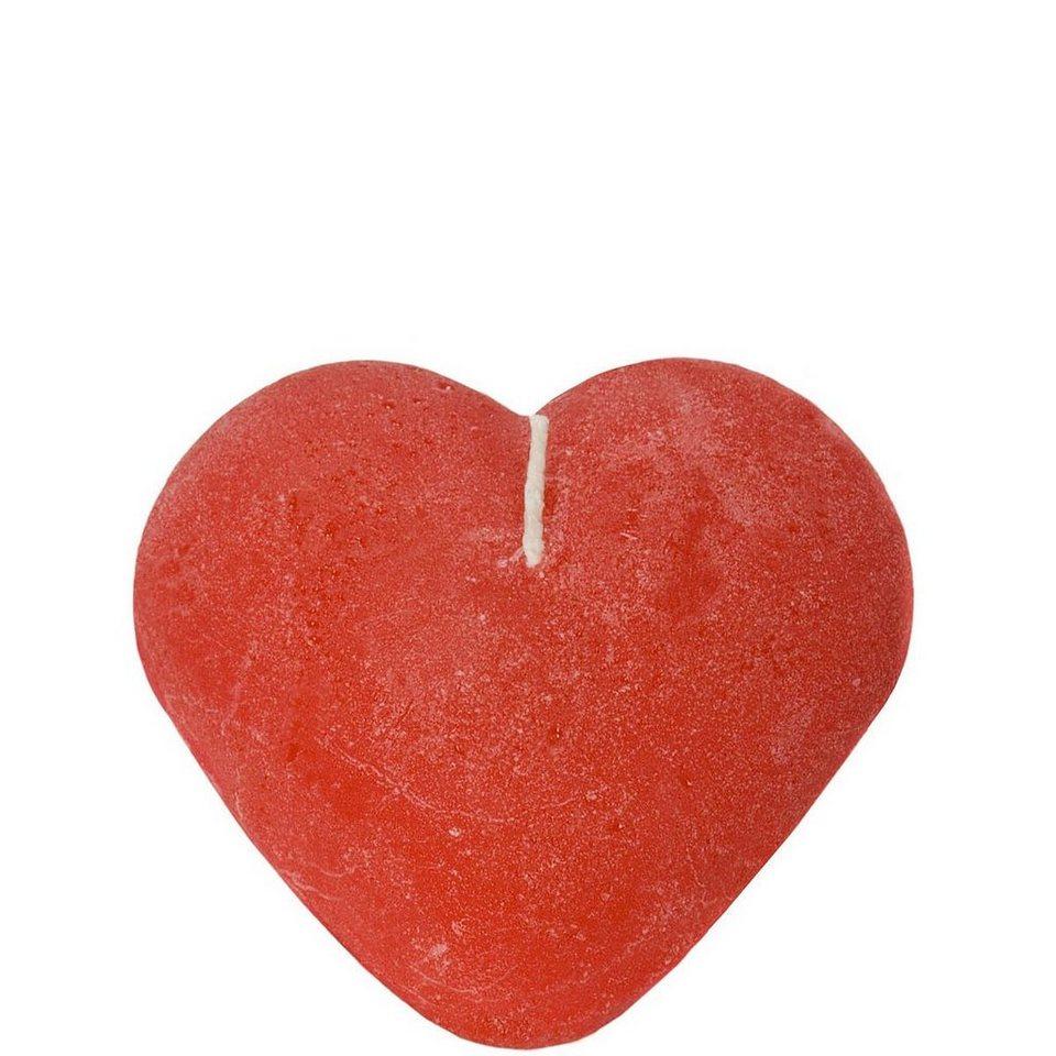 BUTLERS HEART »Herzkerze« in rot
