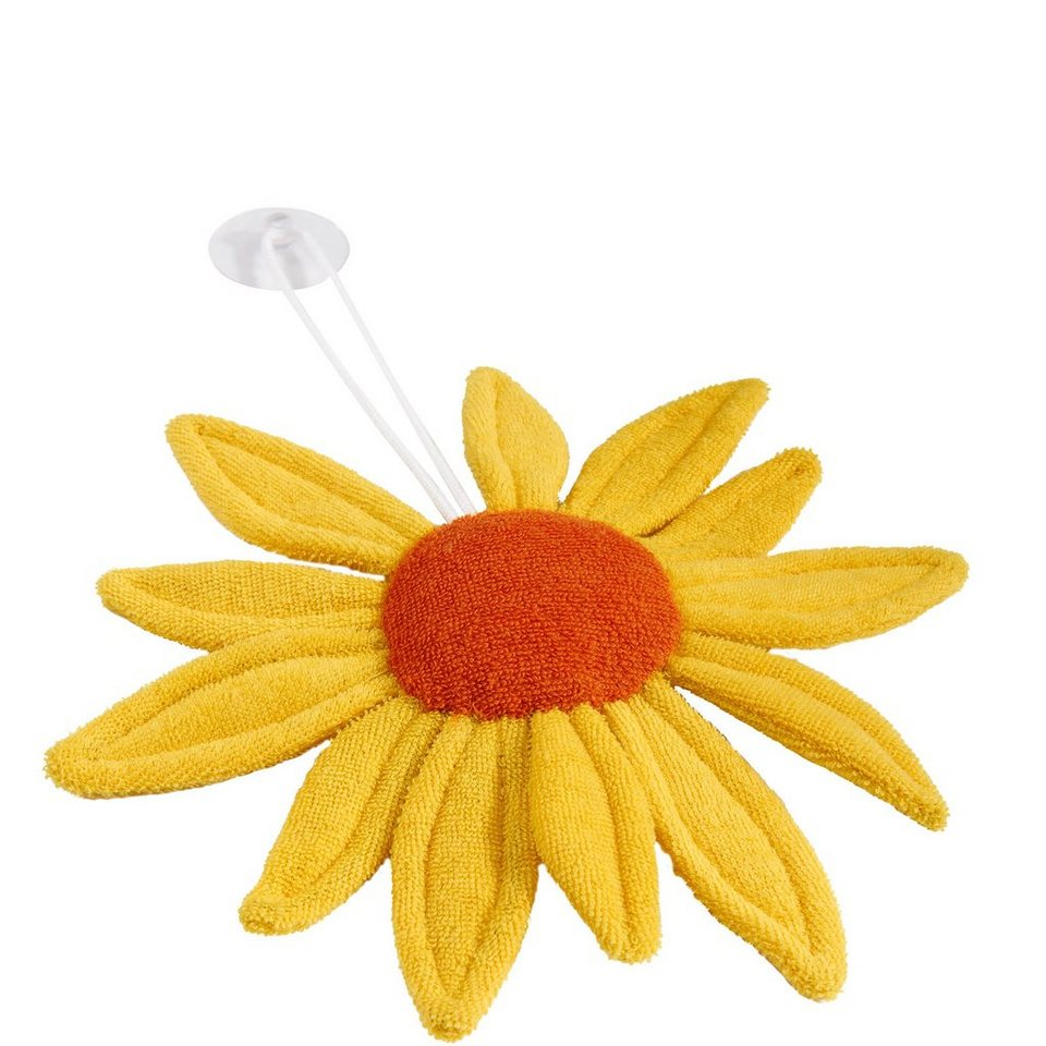 BUTLERS SUNNY »Frottee-Sonnenblume« in gelb-orange