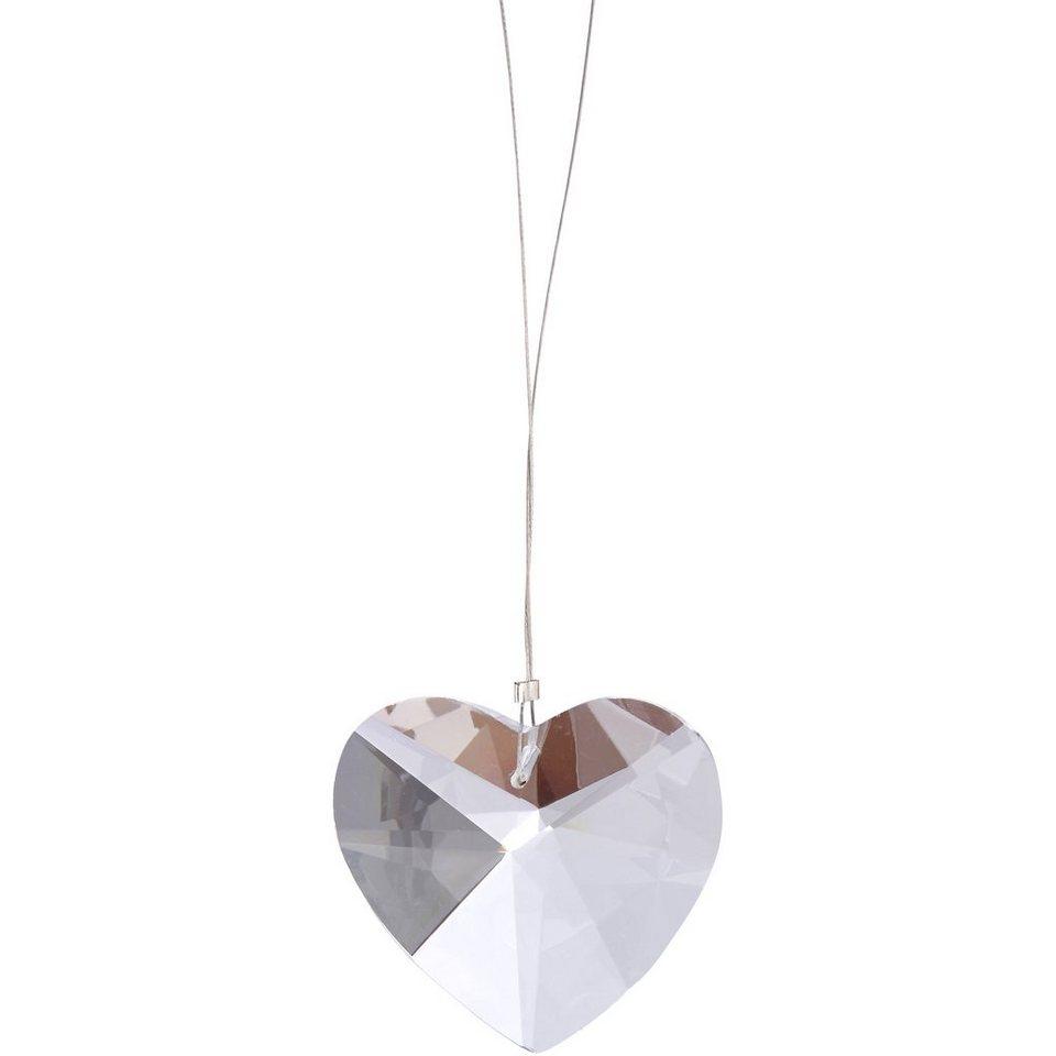 BUTLERS MONBIJOU »Anhänger Kristall-Herz« in transparent
