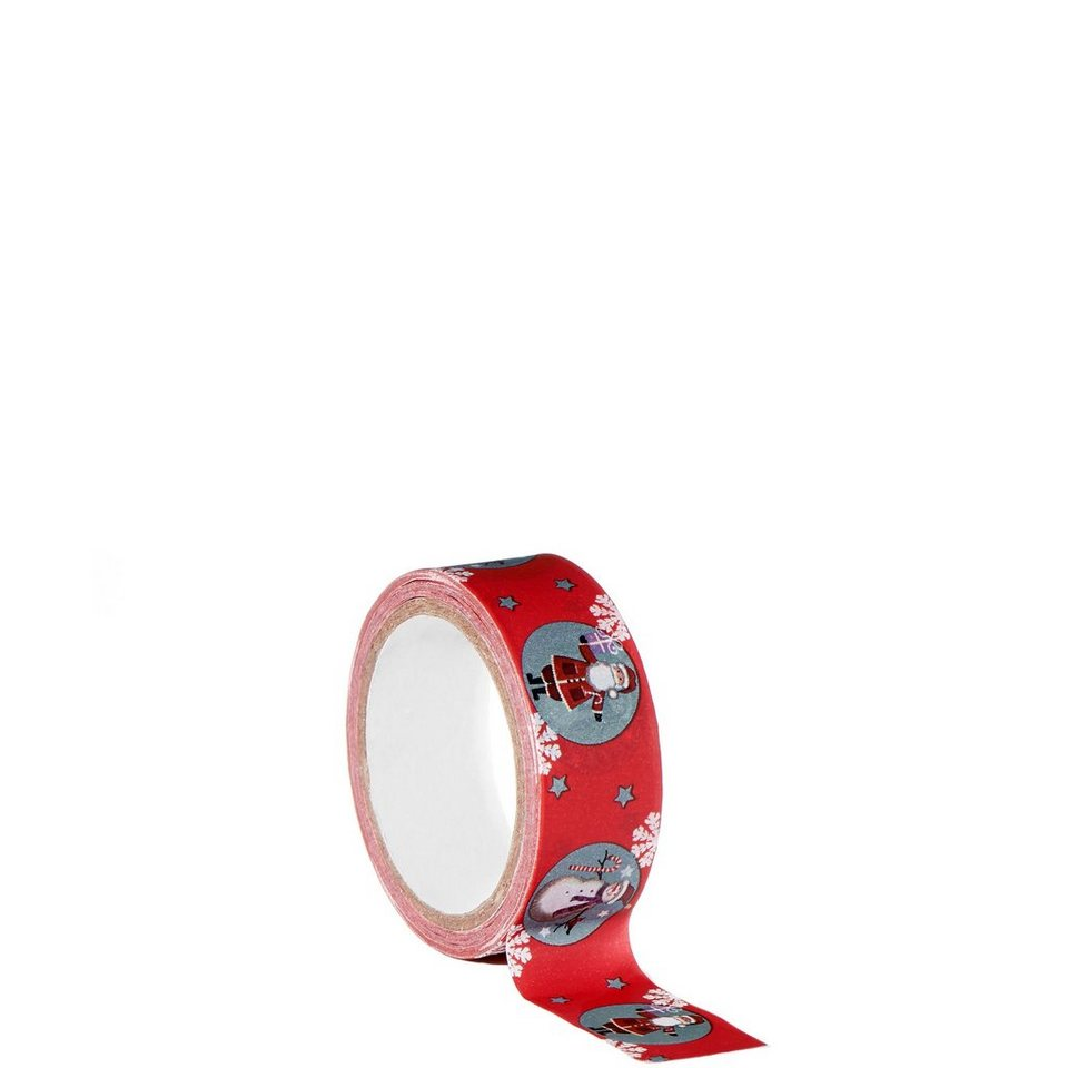 BUTLERS TAPE »Masking Tape Santa & Snowy« in rot