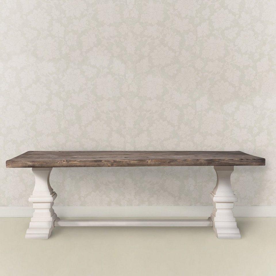BUTLERS RITZ »Tisch« in braun-weiss