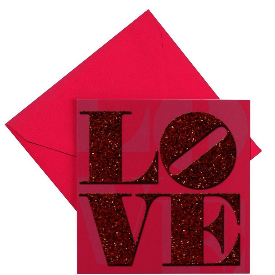 BUTLERS CARD »Strass/Love« in Rot