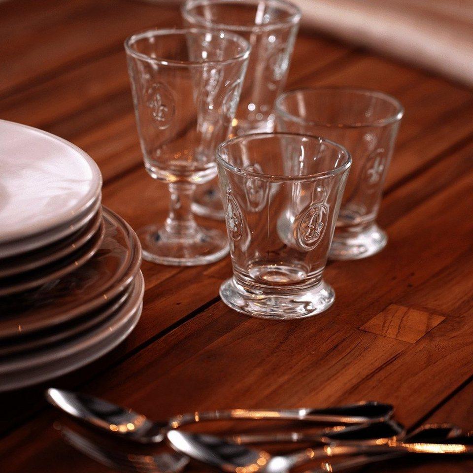 BUTLERS FLEUR »Glas mit Lilienwappen 250ml« in transparent