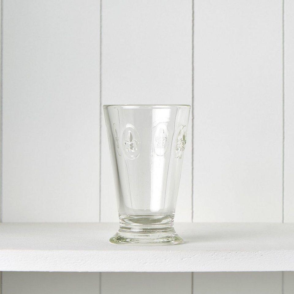 BUTLERS FLEUR »Glas mit Lilienwappen 300ml« in transparent