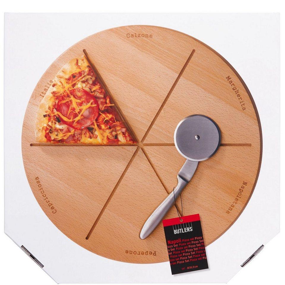 BUTLERS NAPOLI »Pizza-Schneidebrett« in Silber