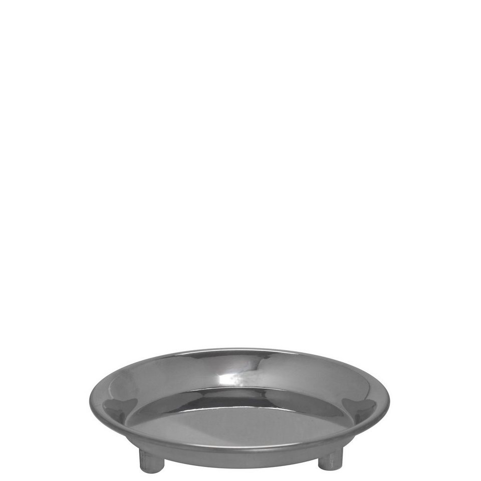 BUTLERS ARRONDI »Kerzenteller klein« in dunkelgrau